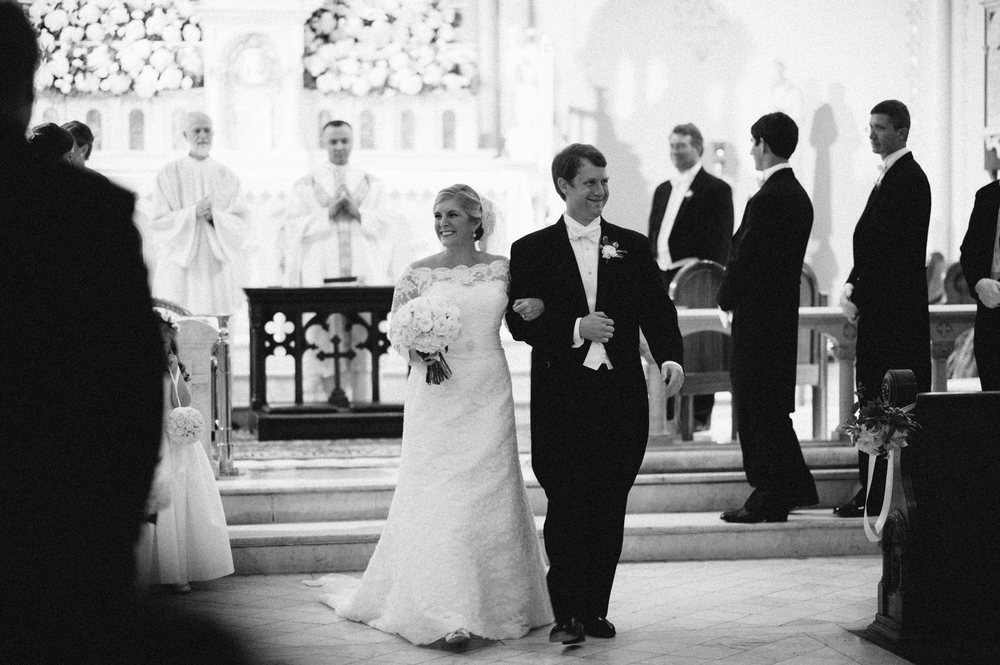 Wedding Ceremony at Church of the Most Holy Trinity | Greg Boulus Events, Augusta GA.