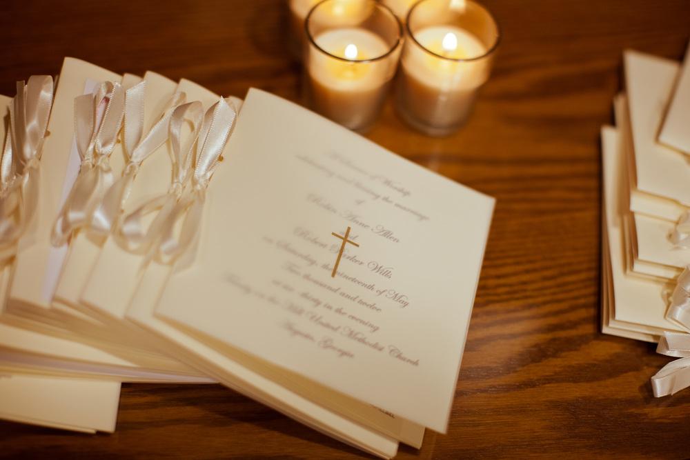 Custom wedding ceremony program, Augusta, GA
