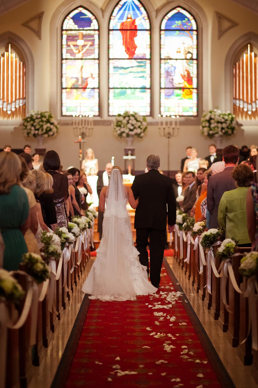 Wedding Ceremony at Trinity on the Hill, Augusta GA