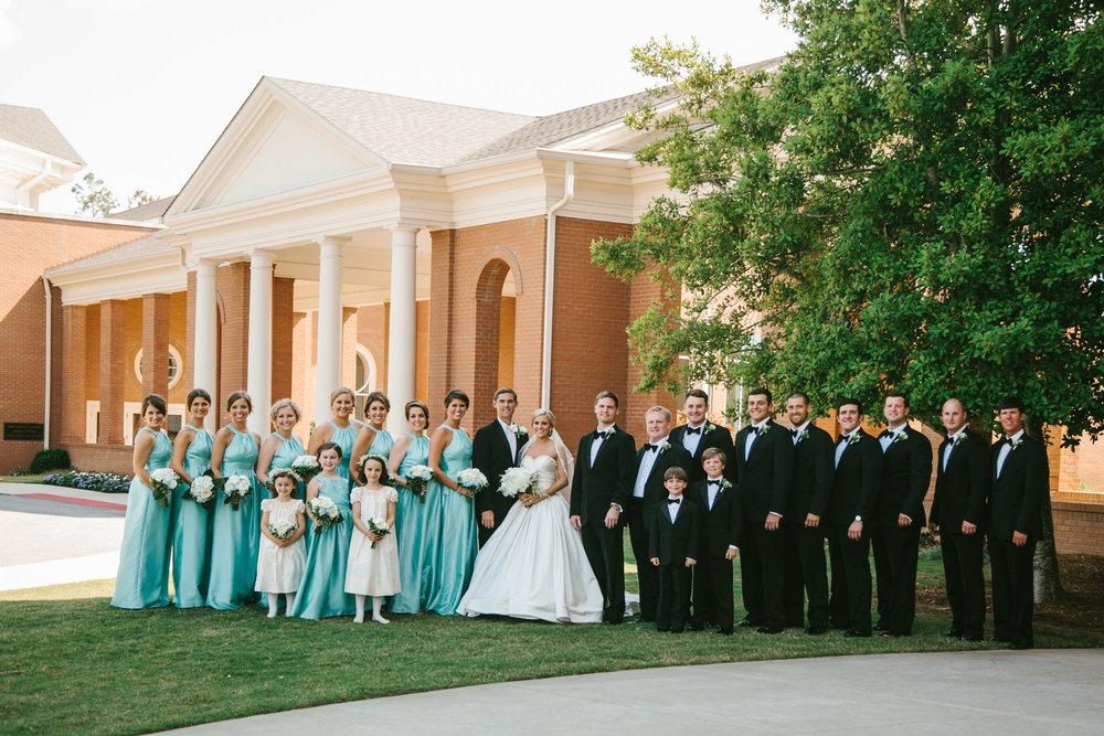 bridal party, First Baptist Church, Augusta GA