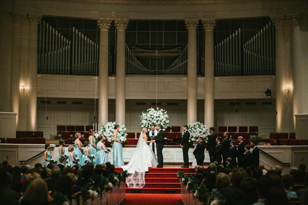 Wedding Ceremony at First Baptist Church