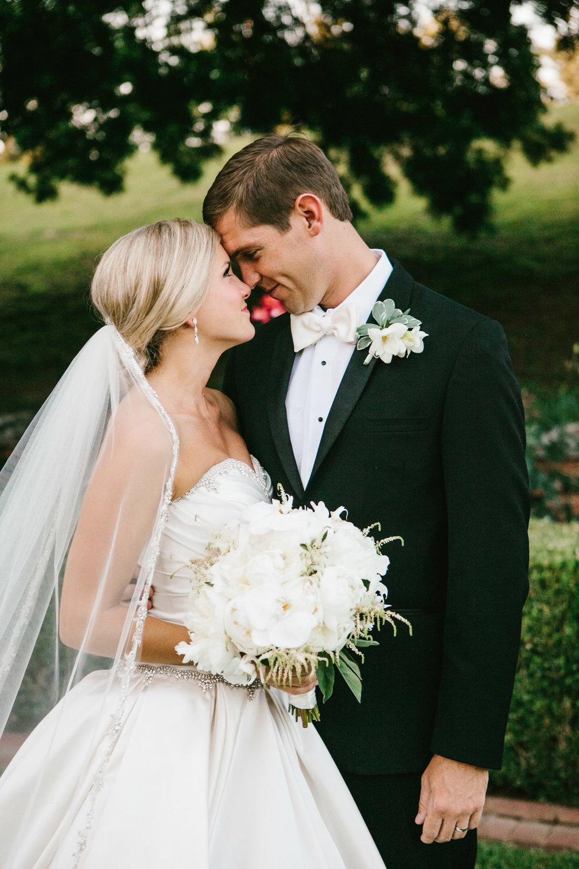 Bride & groom, Augusta, Georgia wedding