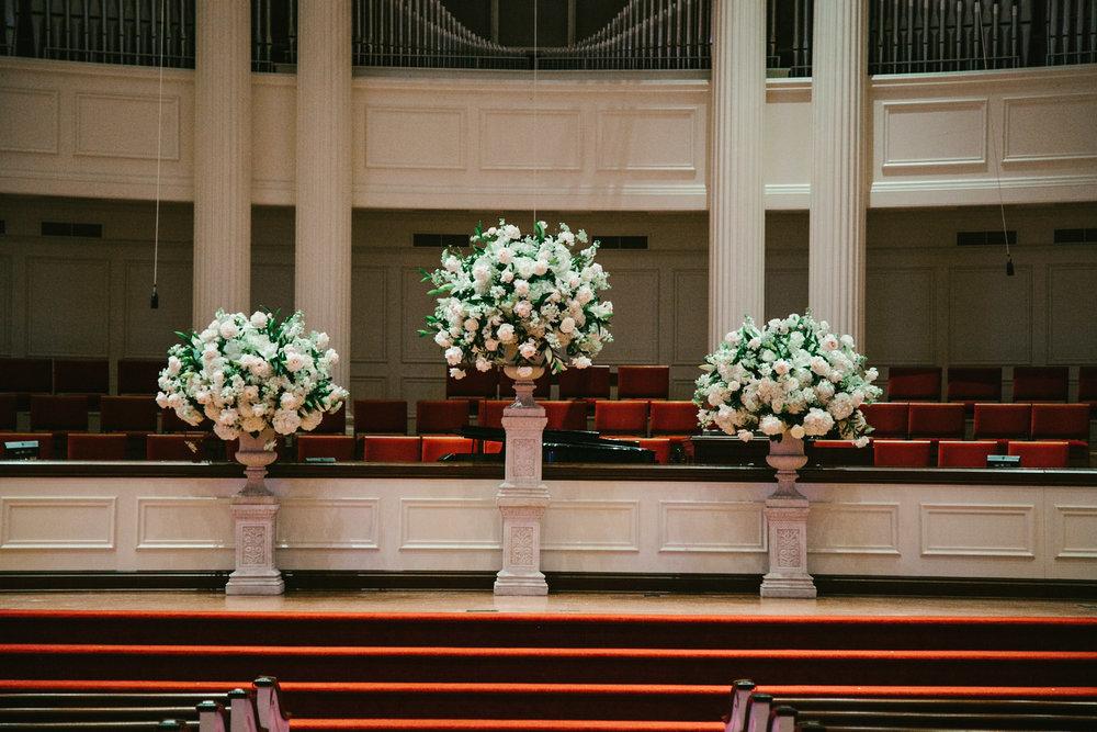 Wedding ceremony urn arrangements