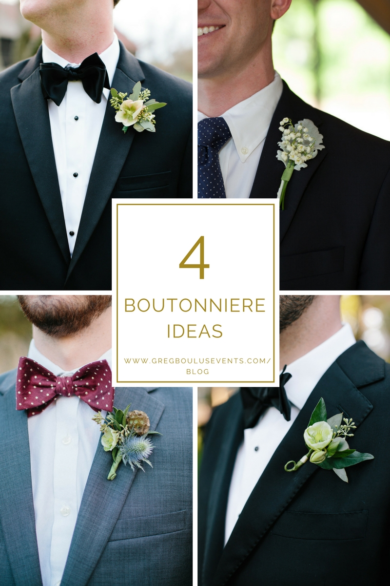 4 Boutonniere Ideas, Augusta wedding planner