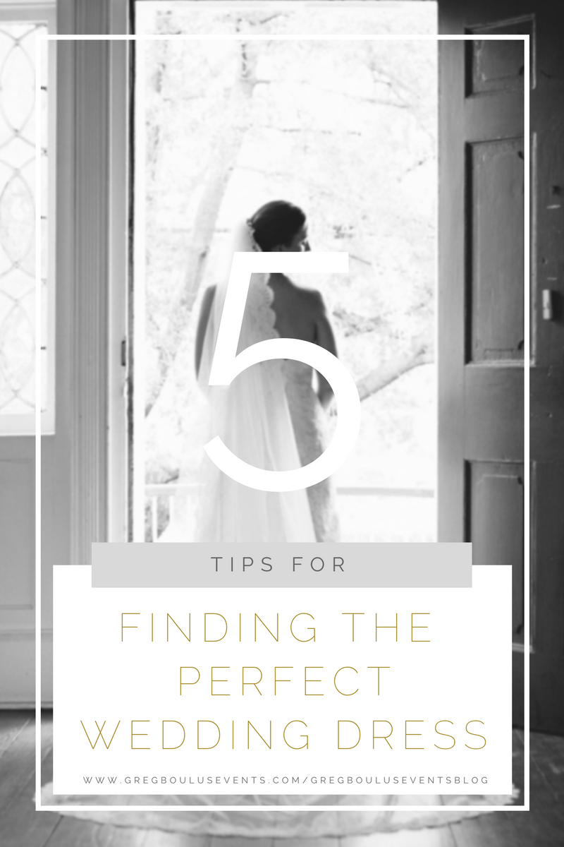 5 tips for finding the perfect wedding dress