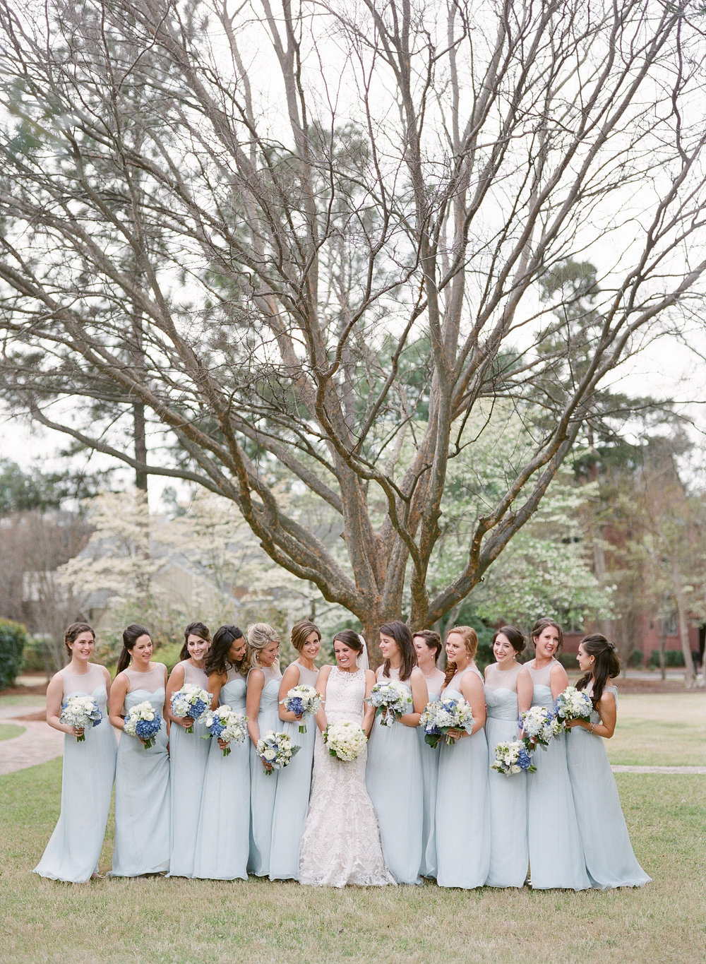 Robin's egg blue bridesmaid dresses, spring wedding
