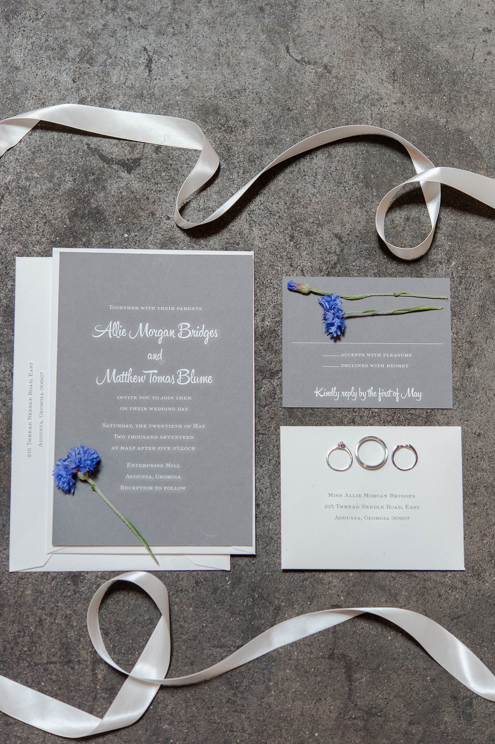 Augusta GA wedding invitations