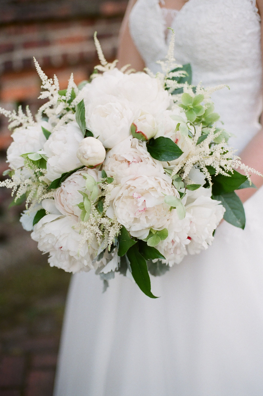 featured floral: peonies, astillbe, hellebores, dusty miller, - Binford + Neil, Old Medical College, Ashley Seawell Photography