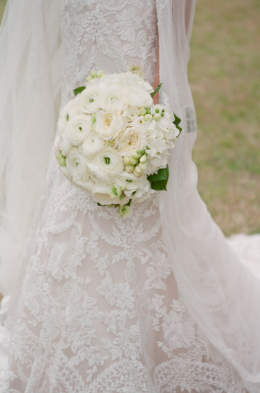 Featured Floral: ranculus, garden roses, hydrangea, Freesia buds - Hailie Hampton + Scott, Private Residence, Ashley Seawell Photography