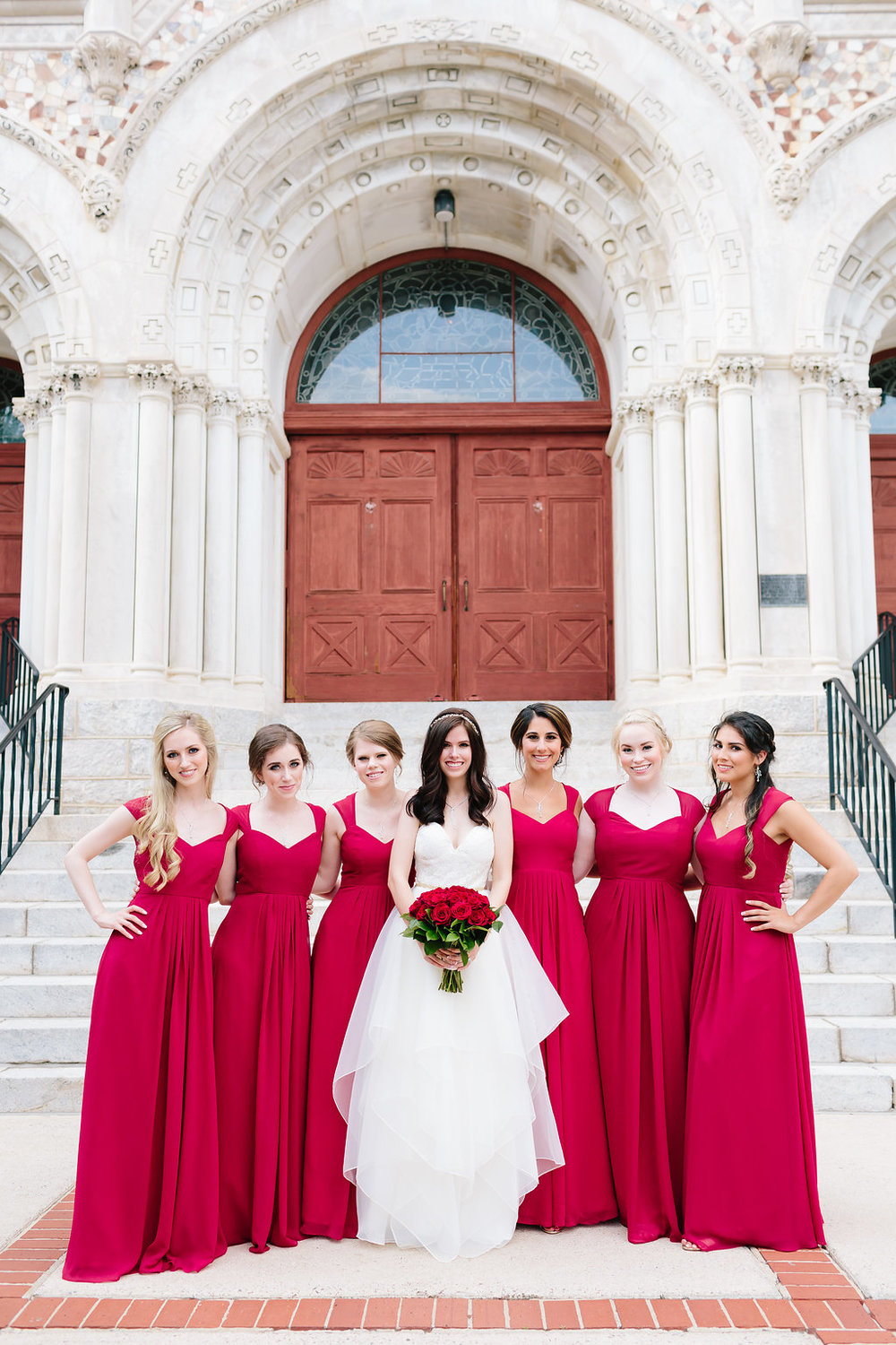 Bridesmaids at Sacred Heart in Augusta Georgia
