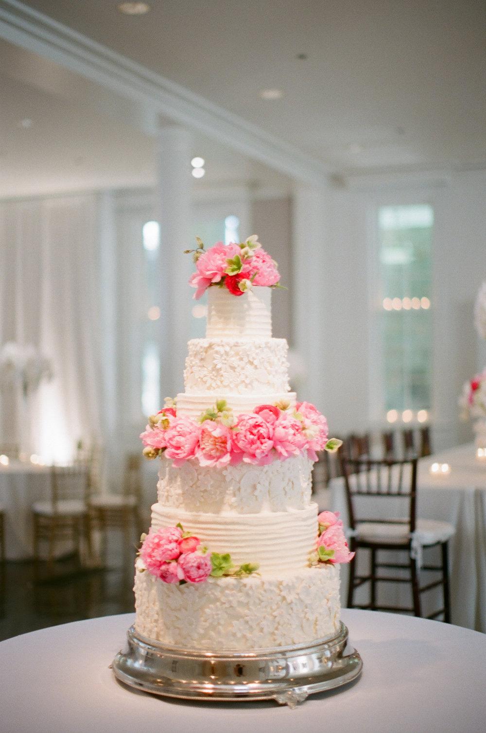 Peonies, wedding cake