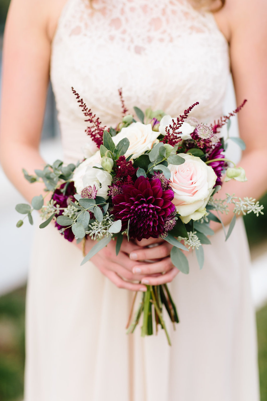 fall wedding bridesmaid bouquet