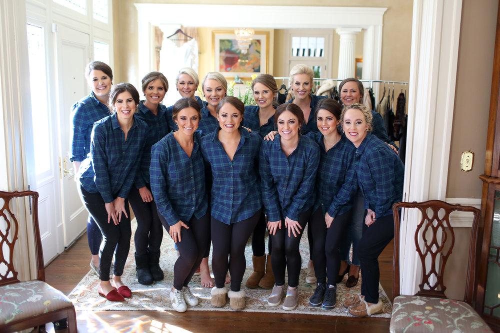 bridal party matching shirts
