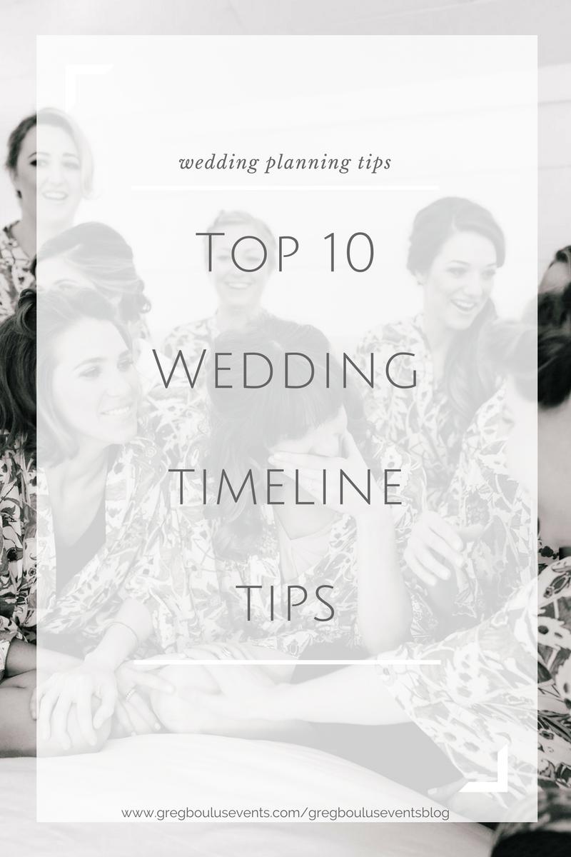 Top 10 Wedding Timeline Tips wedding planning blog