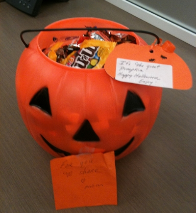 Halloween-themed care package. Photo by dennis crowley under CC BY 2.0 via Flickr.