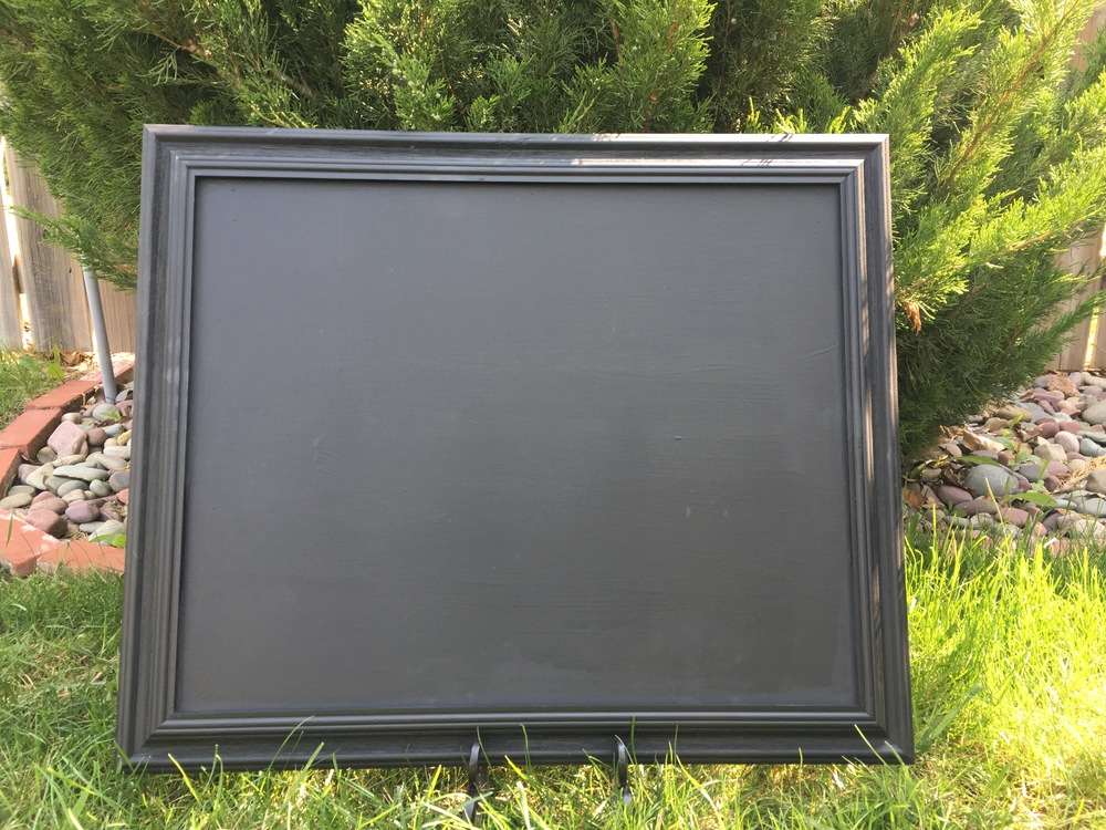 "Black Chalk Sign  (19"" X 24"") $25/weekend.     Incudes custom chalk art"