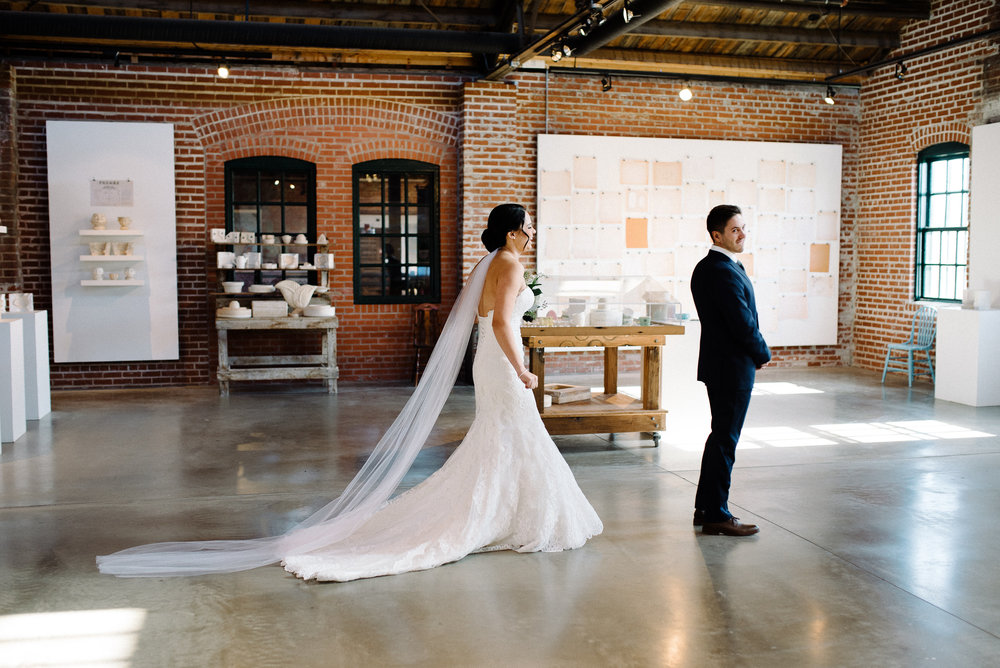 Chloe and Travis chose first look photo's. First look photo's give the bride and groom that private moment to really take each other in and also to take a big breath and relax before the ceremony begins. I love the shots captured here by  Schae Photography !