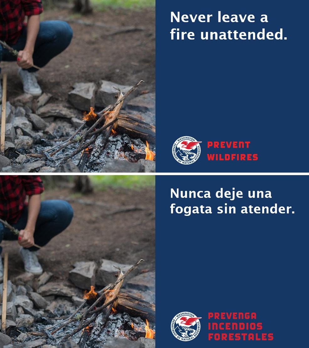DNR Social Media Fire Campaign