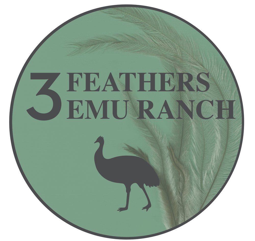 3 Feathers Emu Ranch Logo