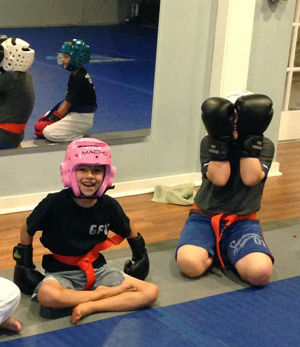 - Our stand up self-defense program focuses on how kids should handle themselves when an opponent comes close to them. They are trained to keep their opponent away, break grips and look for an escape.