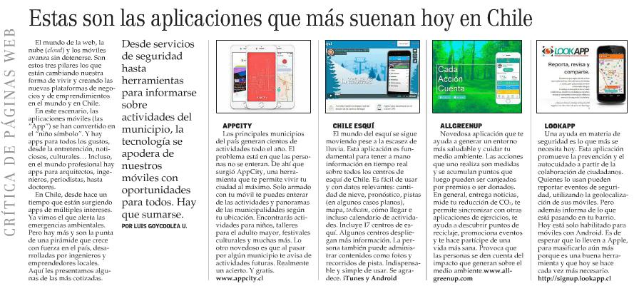 Las Aplicaciones que más suenan en Chile