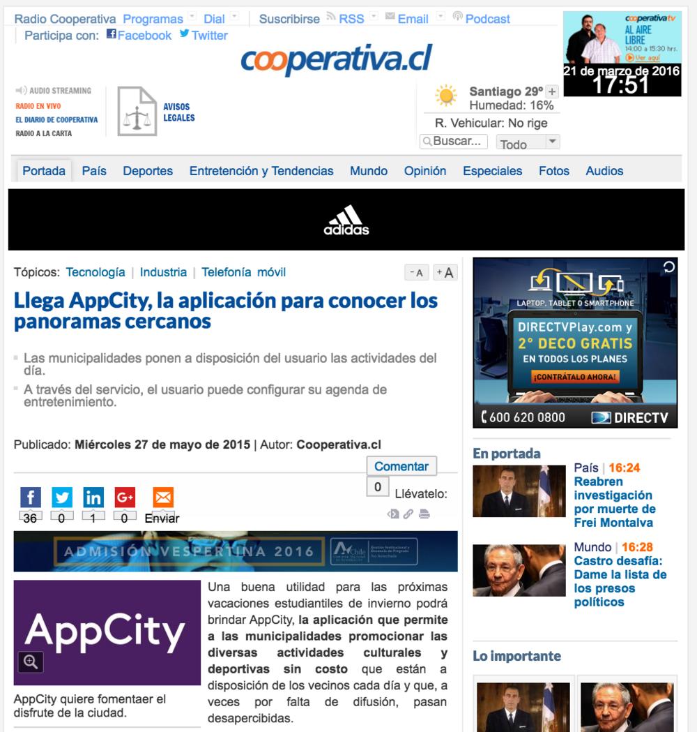 Llega AppCity, la aplicación móvil para conocer los panoramas cercanos