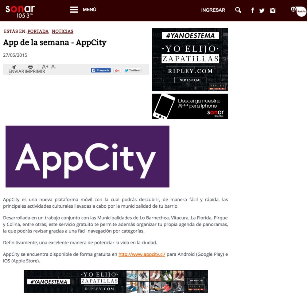 App de la semana - AppCity
