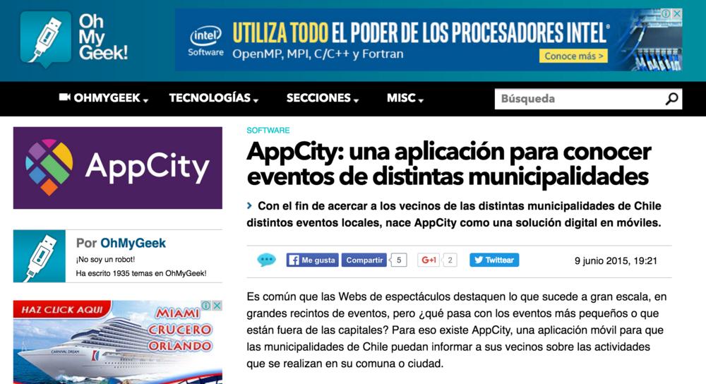 AppCity, una aplicación para conocer eventos de distintas municipalidades