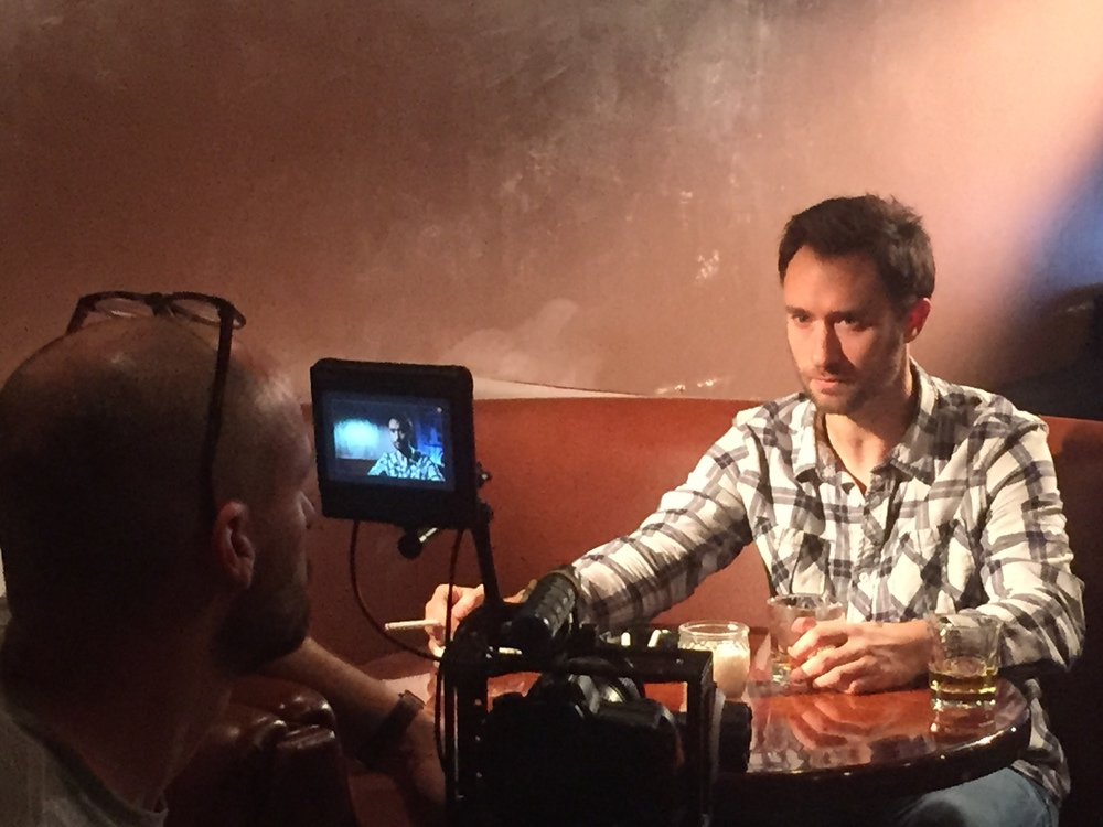 Cinematographer Patrick McGinley films the opening scene with Matt Mercer in the lead role.