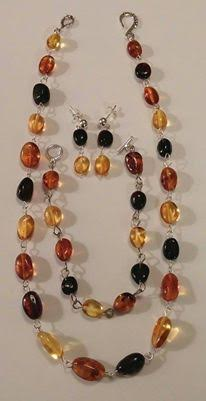 Sterling Silver w/ Amber