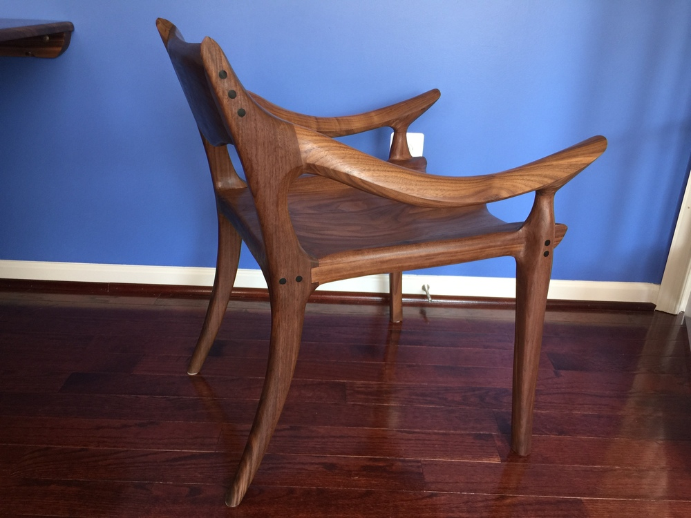 Maloof Inspired Low Back Chair
