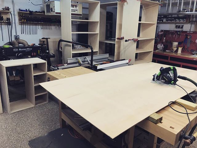 Time for the backer panels #woodworking #cabinets