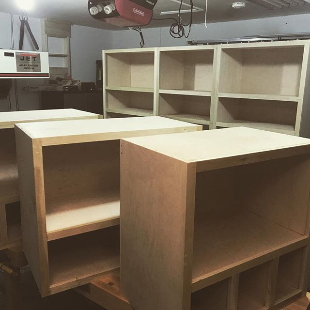 I win this round 2 car garage... #woodworking #cabinets #casework