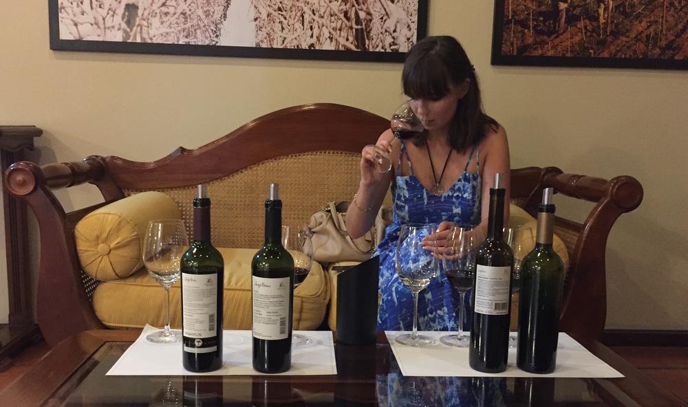 Tasting the wines of Lujan de Cuyo