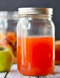 Apple Cider vinegar made at the Zero Waste Cooking Workshop