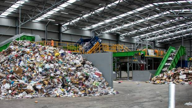 The recycling facility at New Plymouth