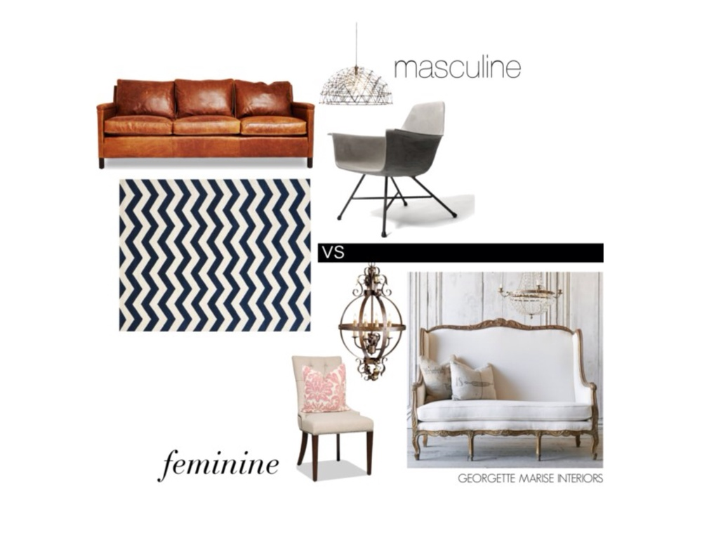 Masculine vs. Feminine Decor