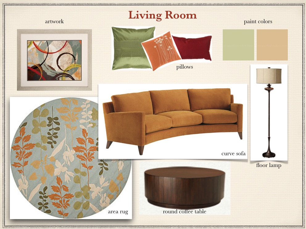 Inspiration Board with decorating ideas