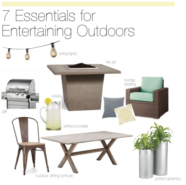 Essentials for entertaining outdoors
