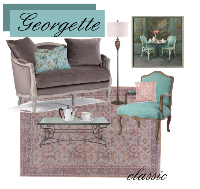 Georgette is the classic part of the georgette marise style.