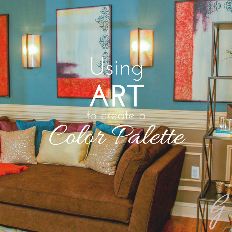 using art to create a color palette