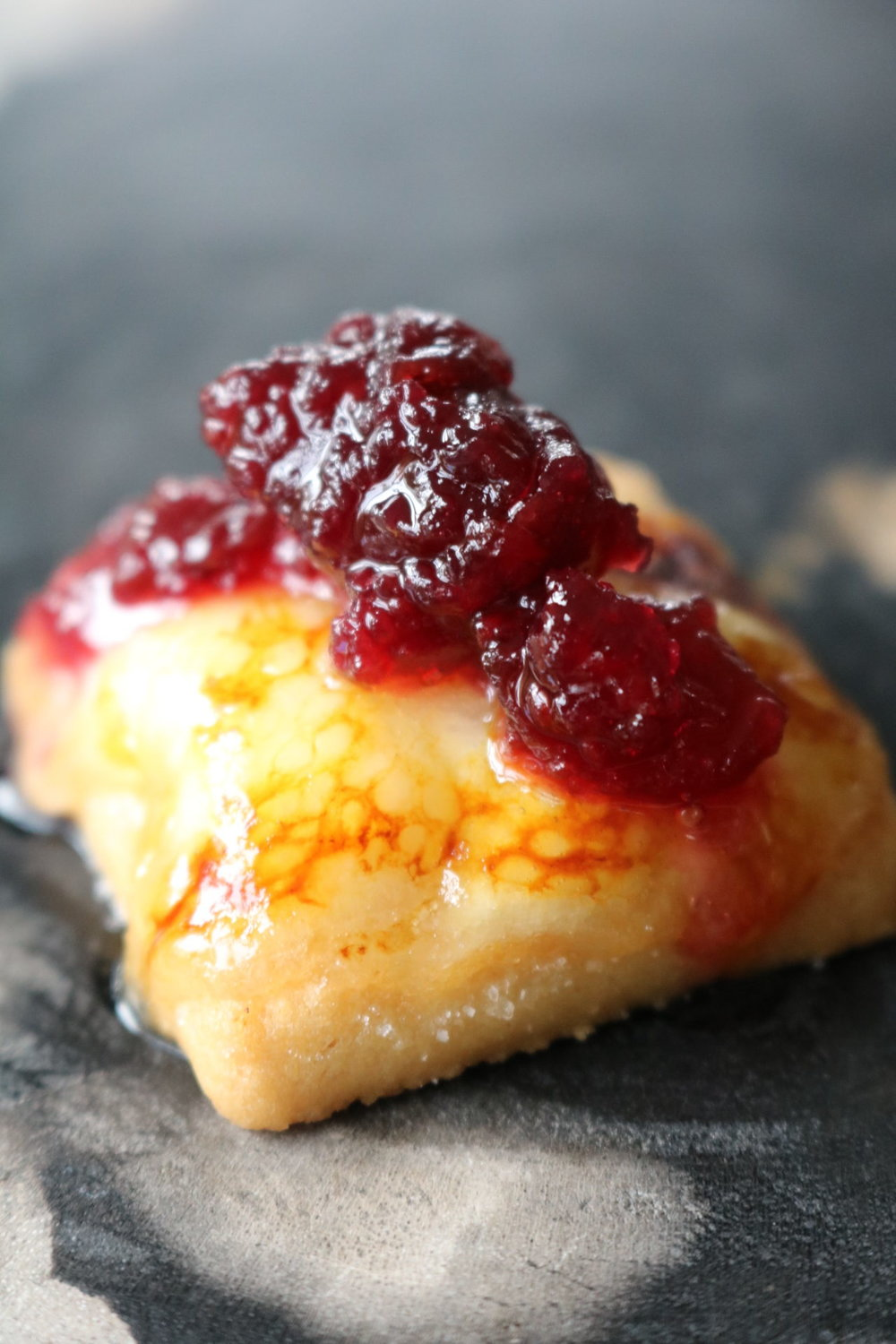 Shortbread Brie Brûlée with Cranberry Compote - A Party with Us