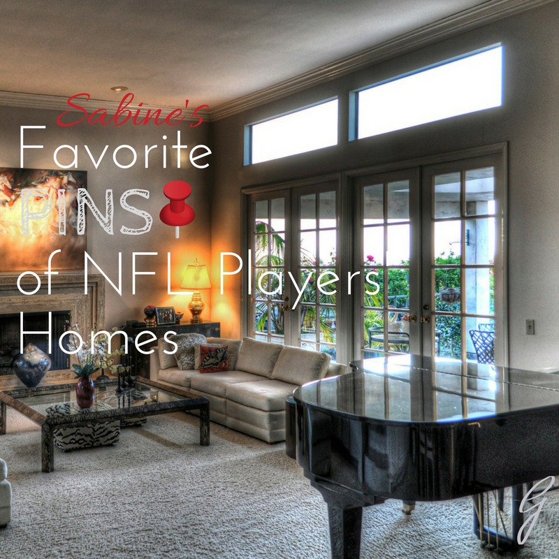 Favorite Pins of NFL players' homes