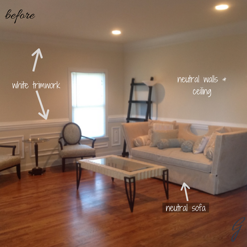 Living Room Makeover: This client wanted to create an intimate space with layers of color.