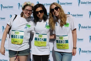 Savannah, Christina, and Shira at the 2nd Annual Global Genes Denim Dash