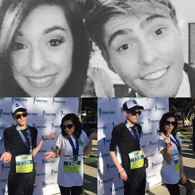 Above: Christina and Travis at the 2015 Global Genes Tribute to Champions of Hope Below: Travis and Christina at the 2nd Annual Global Genes Denim Dash