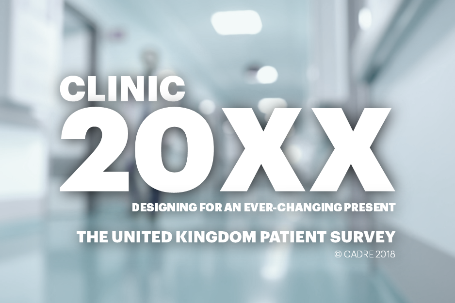 Clinic 20XX: Designing for an Ever-Changing Present (United Kingdom)    Funds:  CADRE   Collaborators:  HKS, Inc.   Location:  Nationwide panel survey
