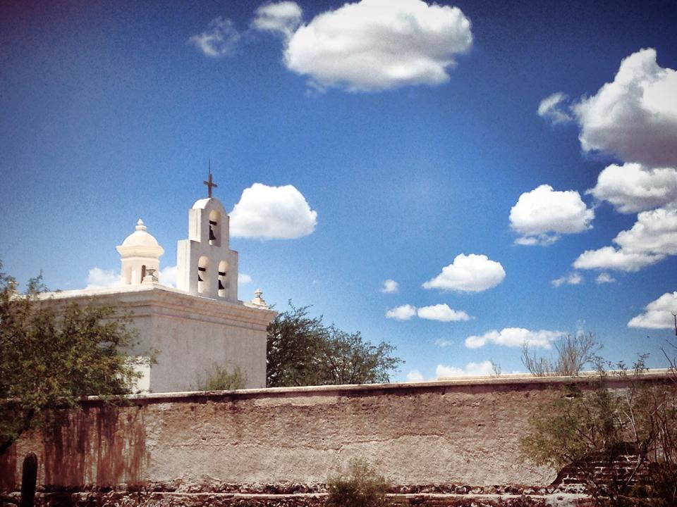 The chapel at the San Xavier del Bac Mission outside Tucson, AZ. (Courtesy @mosyron)