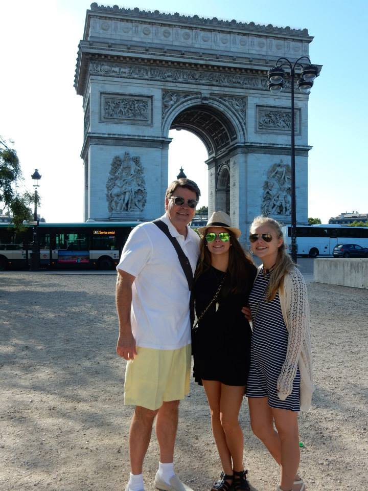 Grace in her Franky's horn necklace in front of the Arc de Triomphe! (Courtesy of Grace Jarrett).