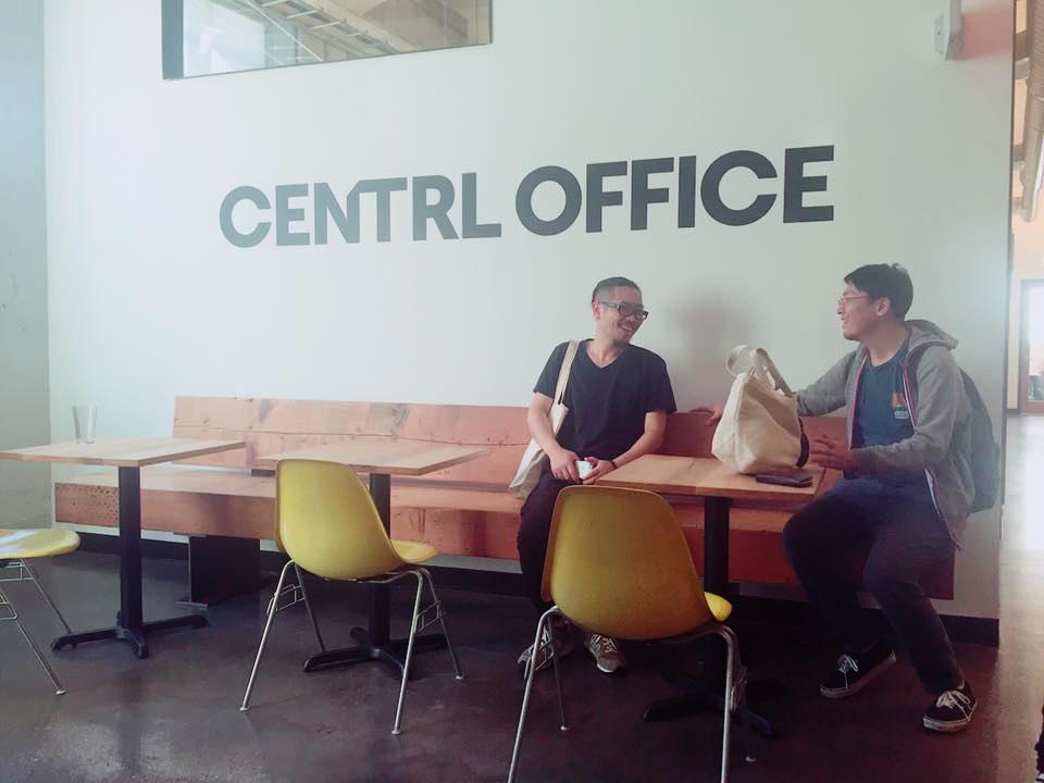 マスマスはシェアオフィスも運営していることから、比較的新しい「CENTRL OFFICE」にも立寄りました。こちらの意図を伝えると、急な訪問にもかかわらずツアーを設けてくれました。